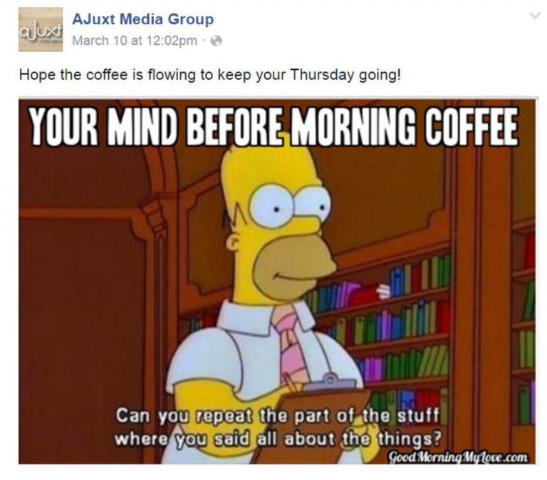 facebook post demonstrating social media strategies for businesses